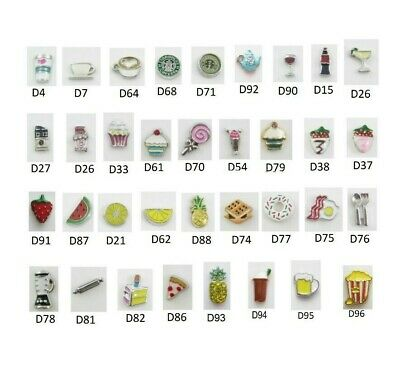Floating Charm FOOD DRINK for Glass Memory Lockets