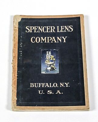 1920 Original SPENCER LENS CO Vintage RESEARCH MICROSCOPE Price List for Catalog