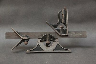 GOODELL-PRATT Co. Machinist's 12 In. Combination Square, 4 Piece, No Res.