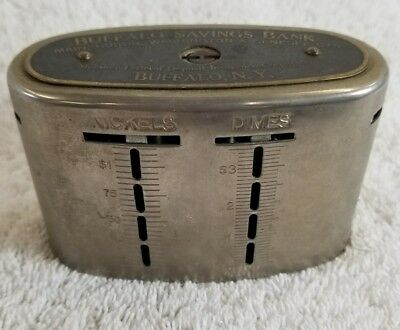 Vintage Traveling Teller Coin Bank – Buffalo Savings Bank, New York. (12B)