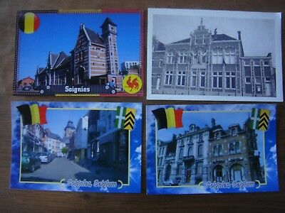 Lot 25 cartes modernes et 1 reproduction de SOIGNIES Gare Modern Hôtel Félix...