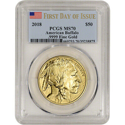 2018 American Gold Buffalo (1 oz) $50 - PCGS MS70 First Day of Issue