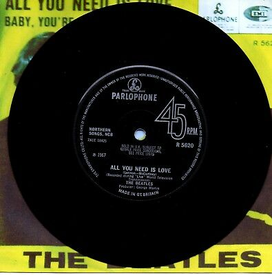 "The BEATLES   "" All You Need Is Love ""     7""Vinyl Single"