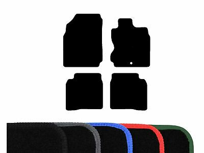 Tailored Fit Black Carpet Floor Mats 4 Piece Car Mat Set for Nissan Note (06-13)