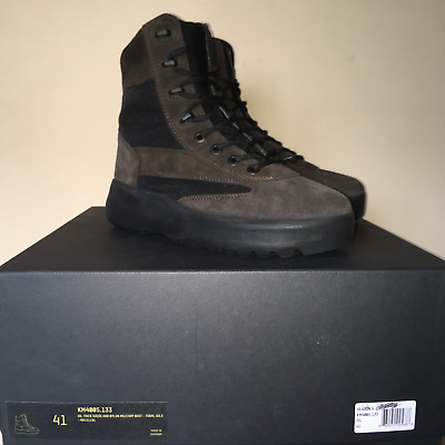 98e433aa55723 YEEZY SEASON 5 Military Boot Black size 8 Leather Suede Boots Combat ...