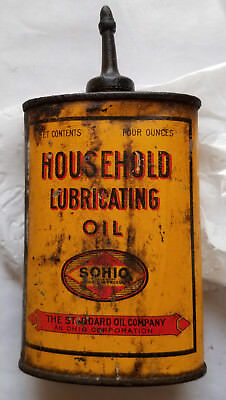 SOHIO Household Lubricating Oil Can Standard Oil Company