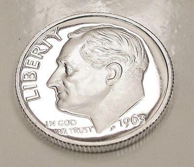 1963  CAMEO  Proof   Dime  90%  Silver  >Lustrous  Beauty<    #316  26