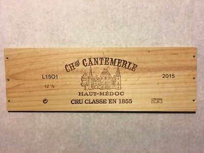 1 Rare Wine Wood Panel Château Cantemerle Vintage 2009 Crate Box Side Wine Bags, Boxes & Carriers