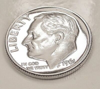 1961  CAMEO  Proof   Dime  90%  Silver  >Lustrous  Beauty<    #316  29