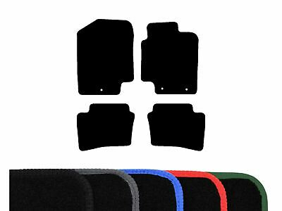 Tailored Fit Black Carpet Floor Mats 4 Piece Car Mat Set for Hyundai i20 (08-14)