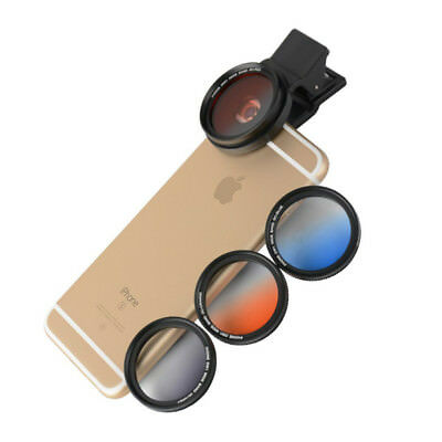 ZOMEI Phone Gradient Lens Filter 37mm with Clip for Iphone Huawei HTC Smartphone