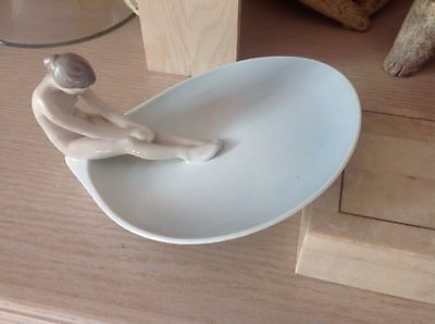 Bing and Grondahl B & G 1532 Nude Lady Tray Dish, signed Meditation 1962 - 1970