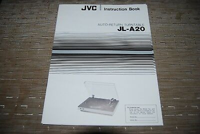 JVC JL-A20 Stereo Turntable Original Manual Instructions Book