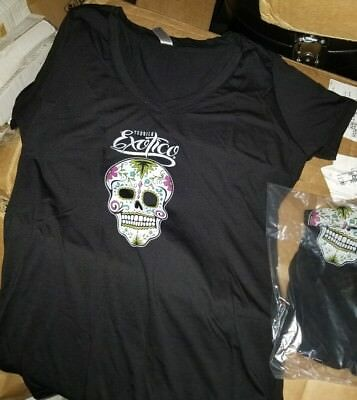 Exotico Tequila medium T Shirt Skull Logo grateful Dead large women day of dead