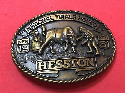 Hesston 1986 National Finals Rodeo Youth Belt Buckle Rodeo 7th edition
