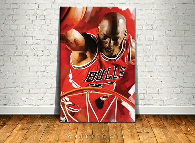 Michael Jordan Canvas High Quality Giclee Print Wall Decor Art Poster Artwork 2