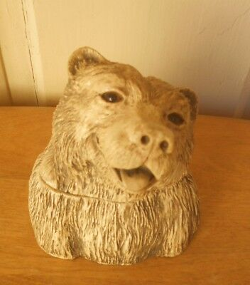 Collect Boxes ?  Love Bears? Now You Can Have Both !  Vtg. Resin Brown Bear Box