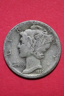 1926 S Mercury Dime Low Grade Exact Coin Shown Flat Rate Shipping TOM 064
