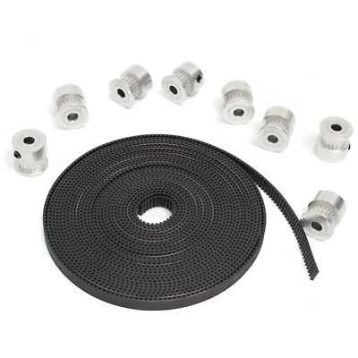 8Pcs GT2 Pulley 20Teeth Bore 5MM + 5M GT2 Belt For 3D Printer Accessories RepRap