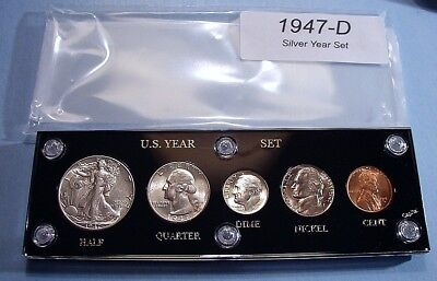 1947-D COLLECTOR SILVER SET U.S. COINS, NICE up to CHOICE BRILLIANT UNCIRCULATED
