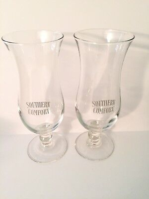 Southern Comfort Pair Of Hurricane Glasses See Listing