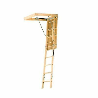 Louisville Ladder L224P 250-Pound Duty Rating Wooden Attic Ladder Fits 8-Foot...