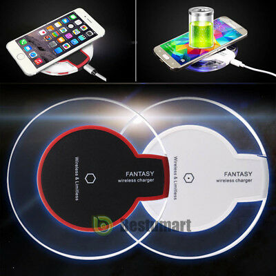 Qi Wireless Fast Charger Dock Charging Pad Receiver for Apple iPhone 5/6/7/Plus