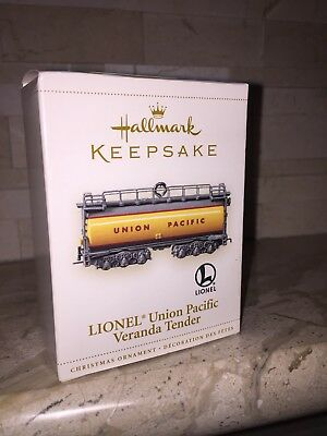 Hallmark Lionel Train Union Pacific Veranda Tender Car Ornament