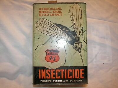 Vintage Phillips 44 Petroleum 66 Oil Co.1 Gallon Can Insecticide Mosquito Rare