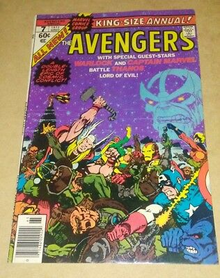 The Avengers Annual #7 (1977) Vf/vf+ High Grade Warlock Death Thanos Key App