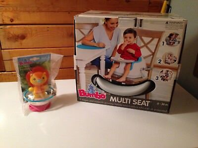 Bumbo Multi Seat (Gray) New in Box with bonus Luca Bumbo Toy