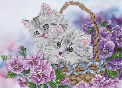 Diamond Dotz 5D Embroidery Facet Art Kit, Kitty Basket, Round Dots, Boxed Kit
