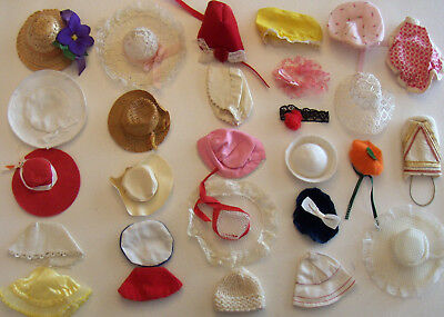 "Vintage 27 Pc Hat Lot Madame Alexander Hats Alex Vogue Ginny & 11"" Fashion Dolls"