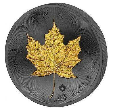 Maple Leaf - Golden Enigma - Ruthenium & Gold Pl Coin Canada 2016