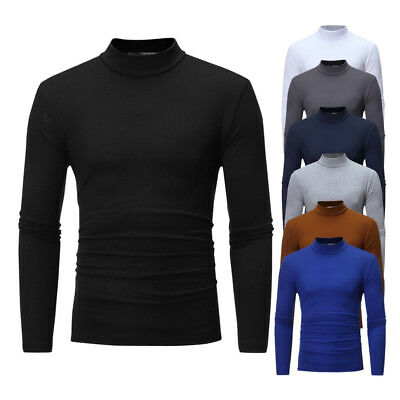 Mens Roll Neck Long Sleeve High Quality Cotton Top Neck Turtle Neck 1Pc Us