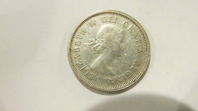 1963 Canada Silver 25 Cent Quarter Dollar Coin