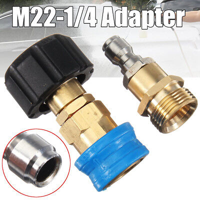 "M22 X 1/4"" Quick Release Pressure Washer Adapter For Karcher Nilfisk Compatible"