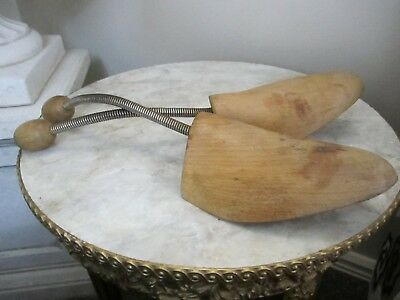 Pair of Vintage Timber Shoe Lasts/Shoe expanders stamped 9  10-11 decor/display
