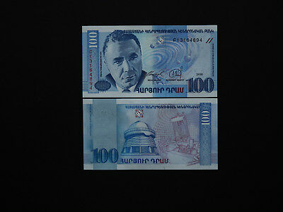 Armenia Banknotes Excellent 100 Dram note Date 1998 Astronomer Issue    MINT UNC