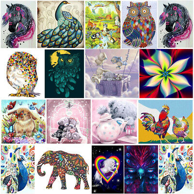 5D Diamond Cute Animal Embroidery Rhinestone Cross Stitch Painting Home Decor