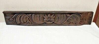 Antique Hand Carved Yalli Dragon Wall Wooden Panel Vintage Estate Home decor Old