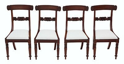 Antique quality set of 4 William IV mahogany bar back dining chairs C1835 4862