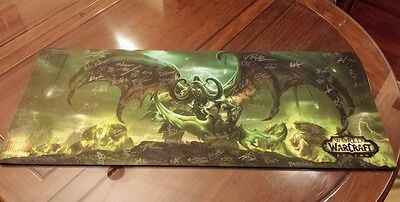 World Of Warcraft Legion Giant Mousepad Card Mat Signed By Dev Team