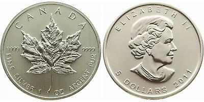 Canada 2011 Maple Leaf Silver Silver Ounce 1 oz oz