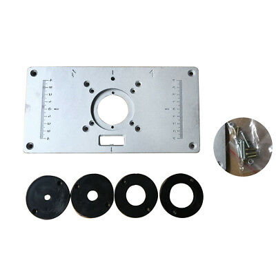 700c aluminum router table insert plate 4 rings screws for 700c aluminum router table insert plate 4 rings screws for woodworking benches greentooth Choice Image