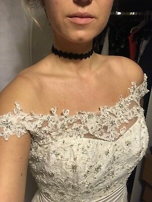 Alfred Angelo BNWT Lace Off The Shoulder Wedding Dress