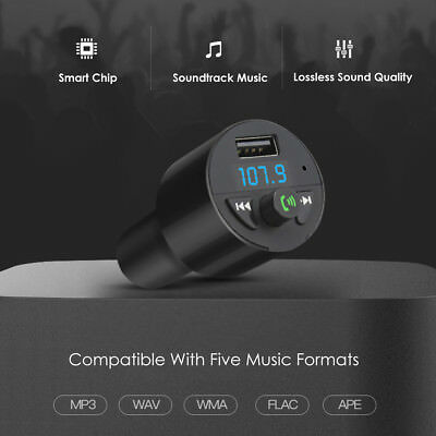 Bluetooth Car FM Transmitter Wireless Radio Adapter MP3 Player Plus USB charger