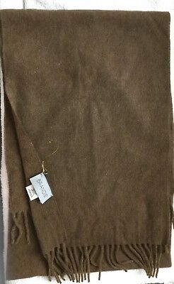 Brando New  hundred percent cashmere  brown scarf,made in Italy