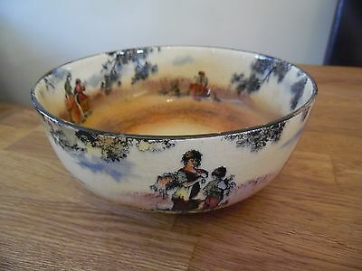 """Royal Doulton """"the Gleaners"""" Large Bowl, English Old Scenes. #d3191"""