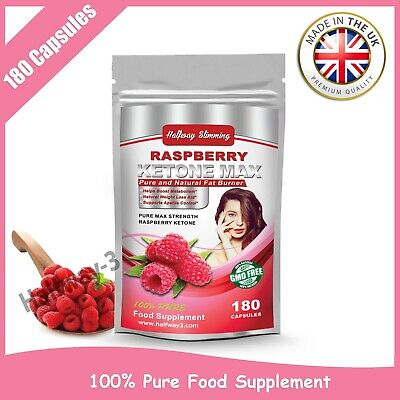 Raspberry Ketone MAX PURE FAT BURNER Super Strong Weight Loss 180 CAPSULES